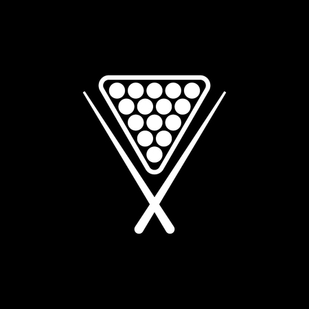 billiards rooms: The billiard icon. Game symbol. Flat Vector illustration Illustration