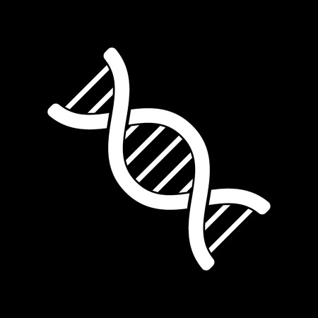 genetic: The dna icon. Genetic symbol. Flat Vector illustration