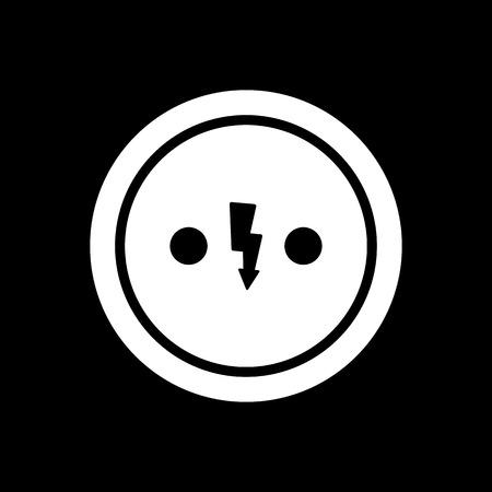 outlet: The Electrical Outlet icon. Socket symbol. Flat Vector illustration