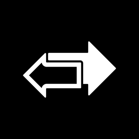 double page: The left and right arrows icon. Arrows symbol. Flat Vector illustration