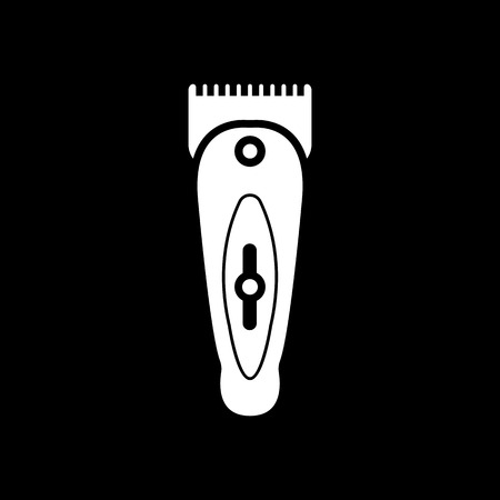 shaver: The hairclipper icon. Shaver symbol. Flat Vector illustration