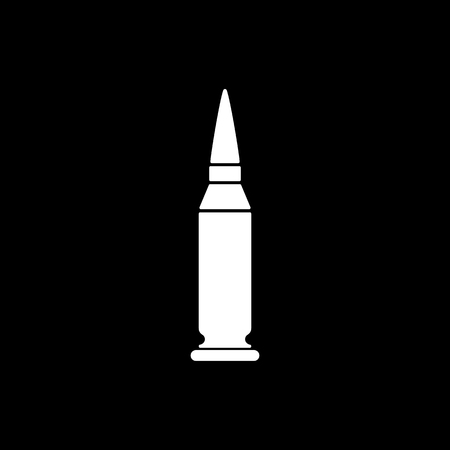 caliber: The bullet icon. Weapon symbol. Flat Vector illustration