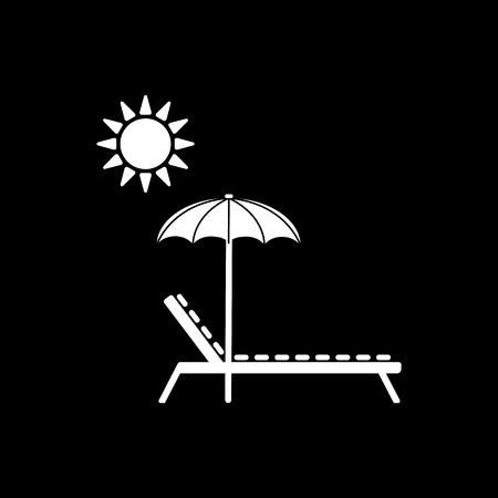 daybed: The lounger icon. Sunbed symbol. Flat Vector illustration Illustration