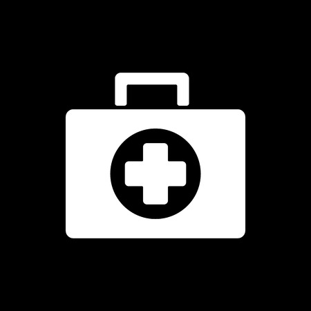 medicine chest: The medicine chest icon. Ambulance symbol. Flat Vector illustration Illustration