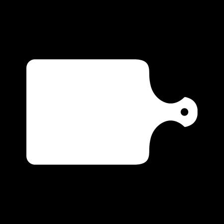 cutting board: The cutting board icon. Chopping Board symbol. Flat Vector illustration Illustration