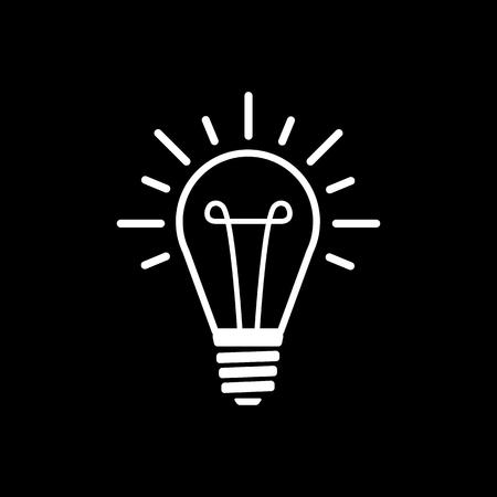illumination: The lightbulb icon. Illumination symbol. Flat Vector illustration Illustration
