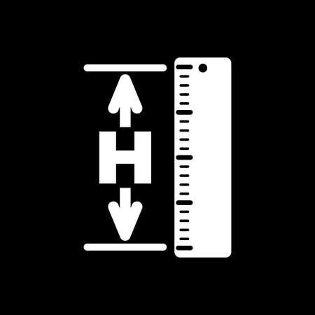 altitude: The height icon. Altitude, elevation, level, hgt symbol Flat Vector illustration