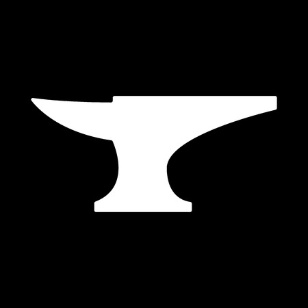incus: The anvil icon. Smith and forge, blacksmith symbol. Flat Vector illustration
