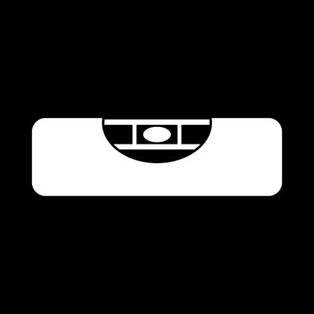 bubble level: The building level icon. Bubble Level symbol. Flat Vector illustration