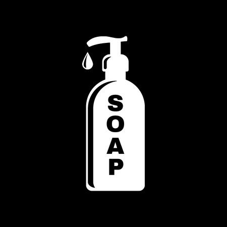 liquid soap: The liquid soap icon. Hand wash symbol. Flat Vector illustration Illustration