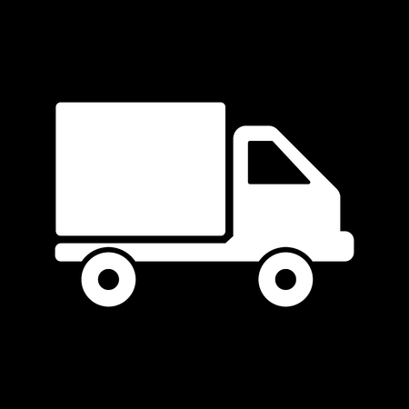 express delivery: The truck icon. Delivery and shipping symbol. Flat Vector illustration