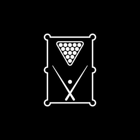 snooker rooms: The billiard table icon. Game symbol. Flat Vector illustration Illustration