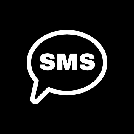 sms icon: The sms icon. Text message symbol. Flat Vector illustration Illustration