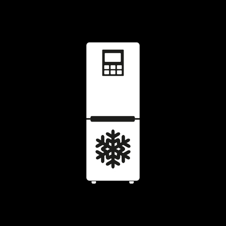 icebox: The icebox icon. Fridge and refrigerator symbol. Flat Vector illustration