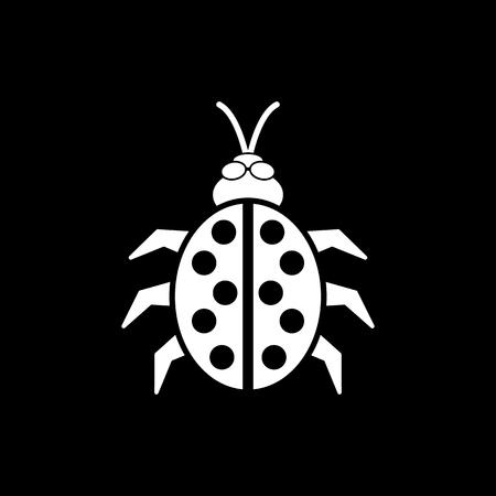 ladybird: The ladybug icon. Ladybird and bug, beetle symbol. Flat Vector illustration