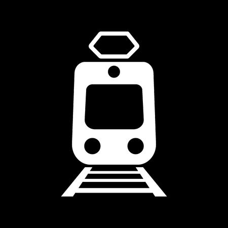 train icone: The train icon. Metro and tram, railroad symbol. Flat Vector illustration Illustration