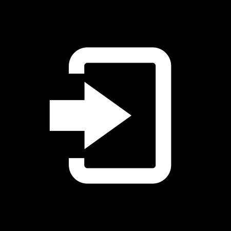 The login icon. Entry and input, authorization symbol. Flat Vector illustration Illustration