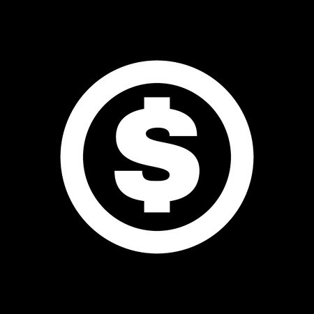 wealth: The dollar icon. Cash and money, wealth, payment symbol. Flat Vector illustration Illustration