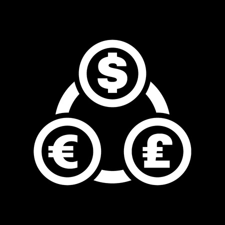 money wealth: The currency exchange dollar, euro, pound sterling icon. Cash and money, wealth, payment symbol. Flat Vector illustration Illustration