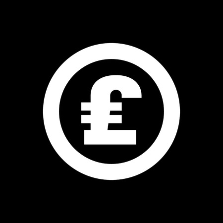 money wealth: The pound sterling icon. Cash and money, wealth, payment symbol. Flat Vector illustration