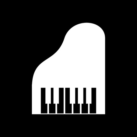 synthesizer: The piano icon. Music and pianist, musician, synthesizer symbol. Flat Vector illustration. Button Set Illustration
