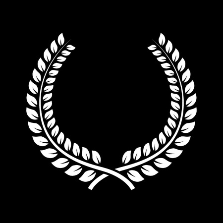 honors: The laurel wreath icon. Prize and reward, honors symbol. Flat Vector illustration. Button Set Stock Photo