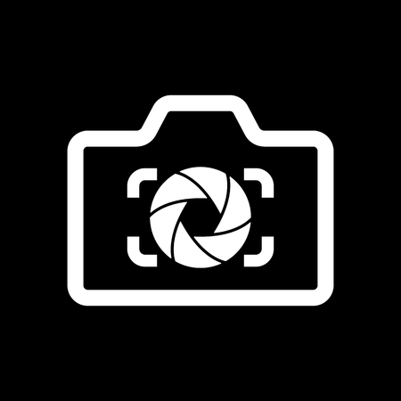 diaphragm: The camera icon. Photo and diaphragm, photographer, photographic symbol. Flat Vector illustration