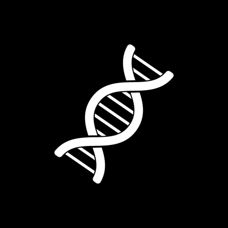heredity: The dna icon. Genetics and medicine, molecule, chromosome,  biology symbol. Flat Vector illustration
