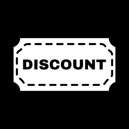 discount: The discount icon. Coupon and gift, offer symbol. Flat Vector illustration