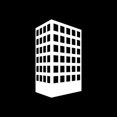 apartment: The building icon. Apartment and skyscraper, townhouse, house symbol. Flat Vector illustration
