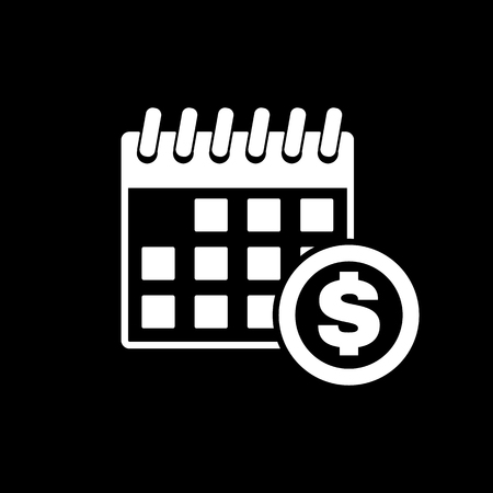 dividends: The pay day icon. Tax and payment, dividends symbol. Flat Vector illustration