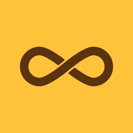 infinity symbol: The infinity icon. Infinity symbol. Flat Vector illustration