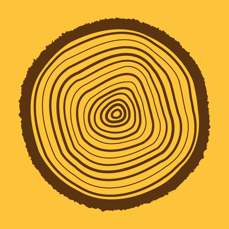 rings: The tree rings icon. Tree rings symbol. Flat Vector illustration.