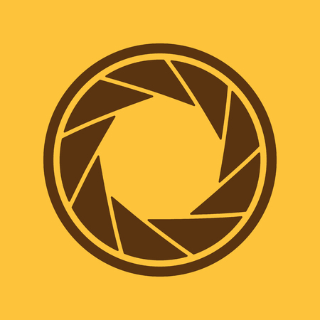 and aperture: The diaphragm icon. Aperture symbol. Flat Vector illustration Illustration