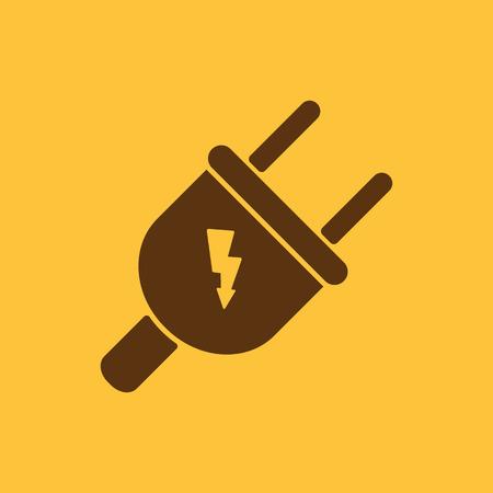 L'icona della spina elettrica. Simbolo della spina elettrica. Appartamento vettore
