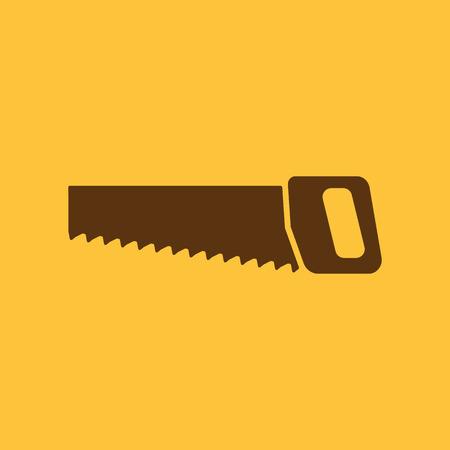 crosscut: The saw icon. Saw symbol. Flat Vector illustration