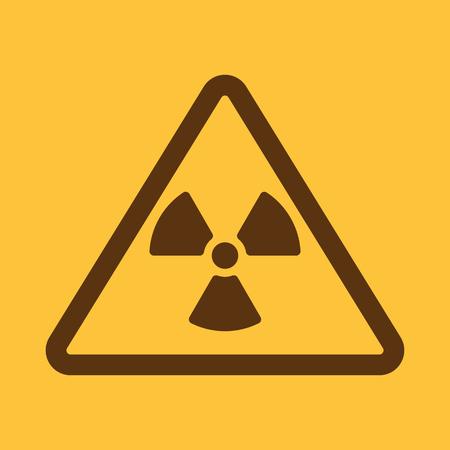 roentgen: The radiation icon. Radiation symbol. Flat Vector illustration Illustration