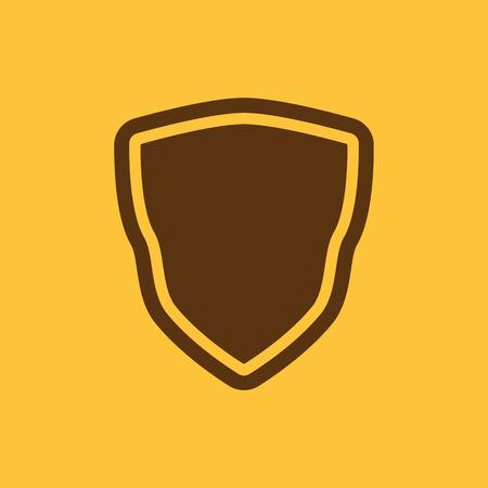 escudo: El icono de escudo. Símbolo de Escudo. Ilustración vectorial Flat