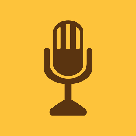The mic icon. Microphone symbol. Flat Vector illustration Illustration