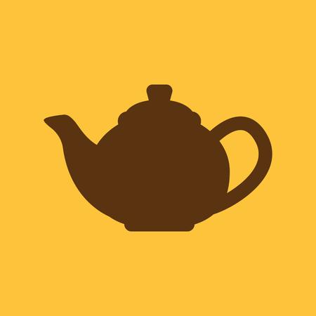 illustratio: The teapot icon. Tea symbol. Flat Vector illustratio