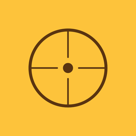 sharpshooter: The crosshair icon. Search symbol. Flat Vector illustration Illustration