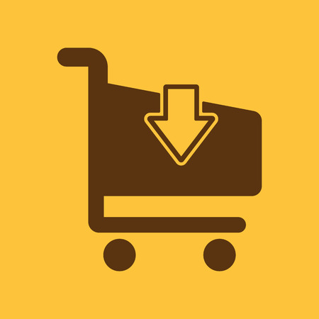 shoping: The cart shoping icon. Shop Cart symbol. Flat Vector illustration