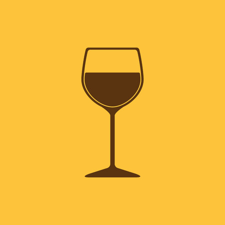 champagne cups: The wineglass icon. Goblet symbol. Flat Vector illustration Illustration