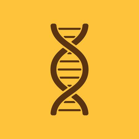 heredity: The dna icon. DNA symbol. Flat Vector illustration Illustration