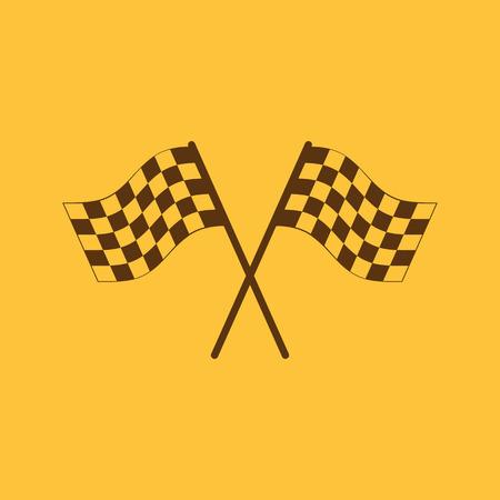 accomplish: The checkered flag icon. Finish symbol. Flat Vector illustration