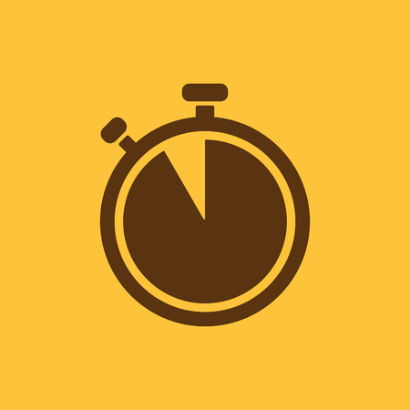 countdown: The stopwatch icon. Countdown symbol. Flat Vector illustration