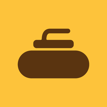 curling stone: The stone for curling icon. Sport symbol. Flat Vector illustration