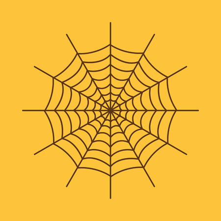 background isolated: The spiderweb icon. Web symbol. Flat Vector illustration Illustration