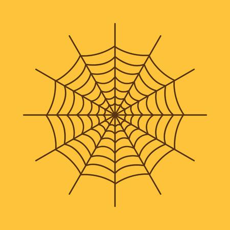 line art: The spiderweb icon. Web symbol. Flat Vector illustration Illustration