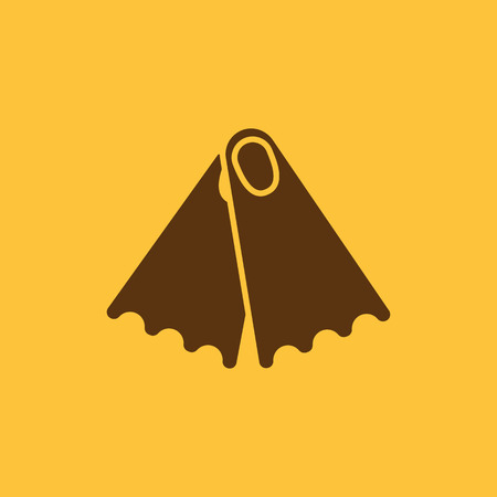 flippers: The flippers icon. Diving symbol. Flat Vector illustration Illustration